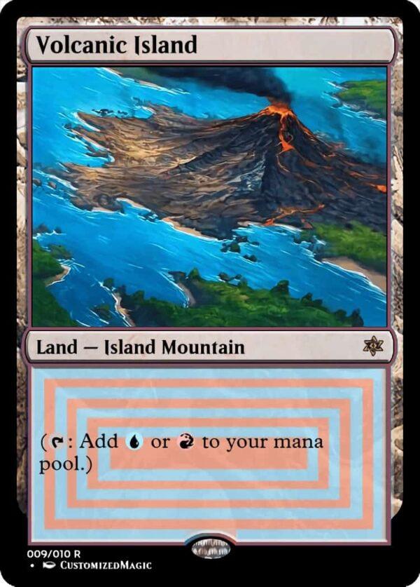 Volcanic Island - Magic the Gathering Proxy Cards