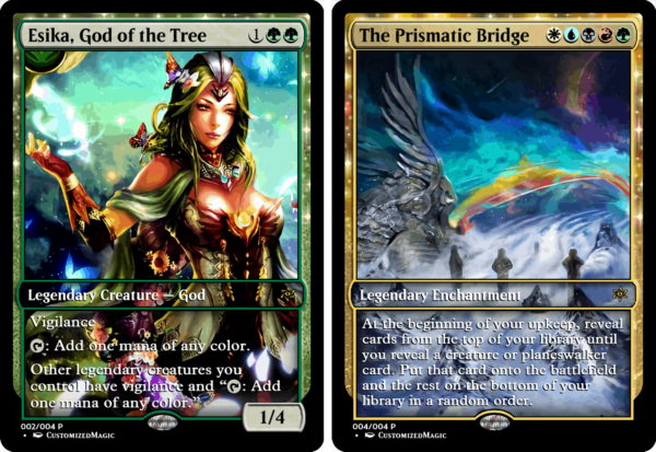 Esika God of the Tree and The Prismatic Bridge 02 - Magic the Gathering Proxy Cards