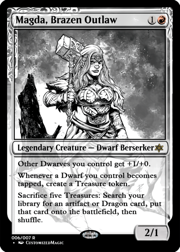 Magda Brazen Outlaw.5 - Magic the Gathering Proxy Cards