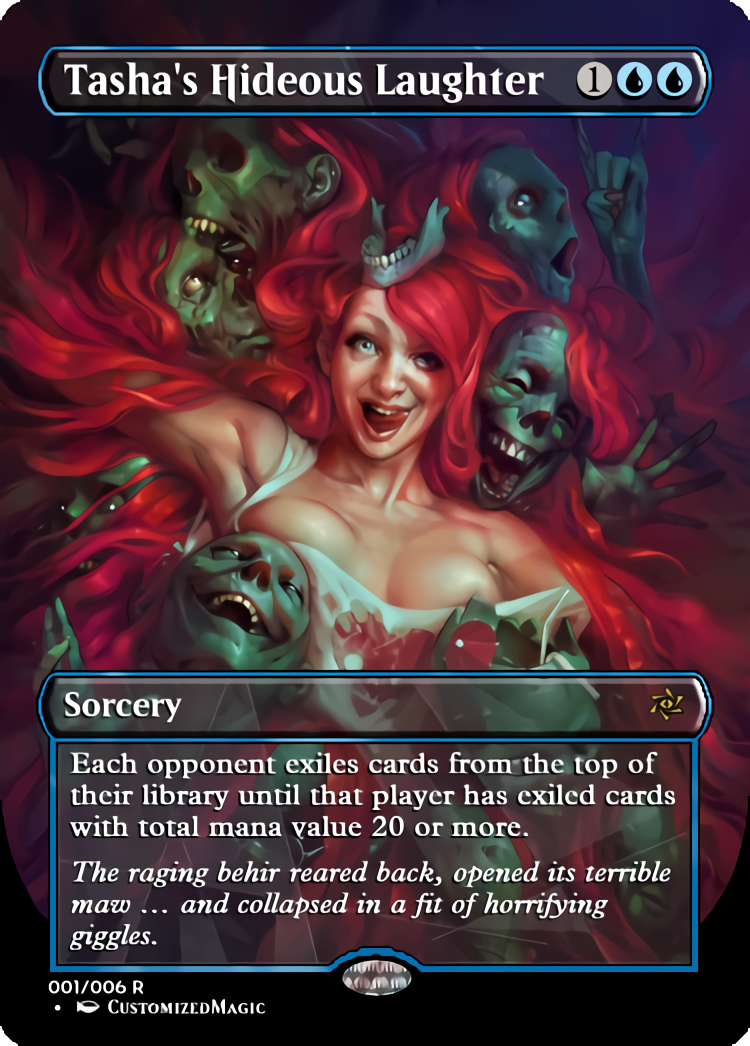 Tashas Hideous Laughter - Magic the Gathering Proxy Cards