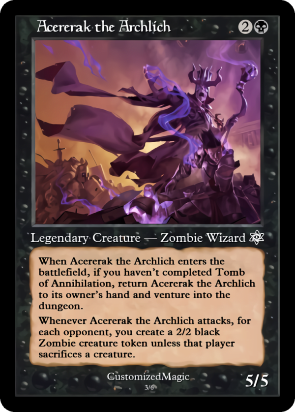 Acererak the Archlich.2 - Magic the Gathering Proxy Cards