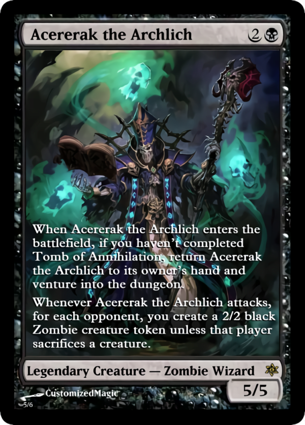 Acererak the Archlich.4 - Magic the Gathering Proxy Cards