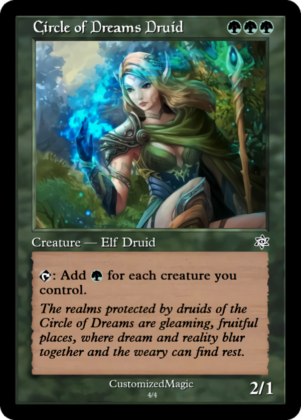 Circle of Dreams Druid .3 - Magic the Gathering Proxy Cards