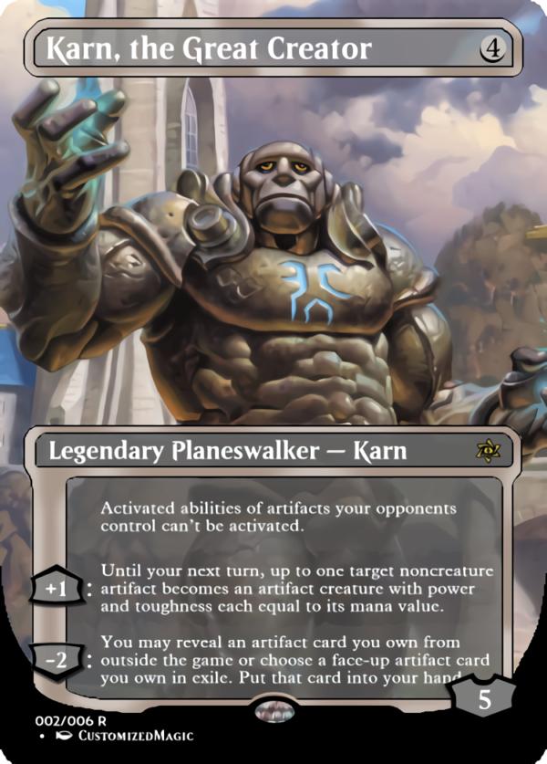 Karn the Great Creator.1 - Magic the Gathering Proxy Cards