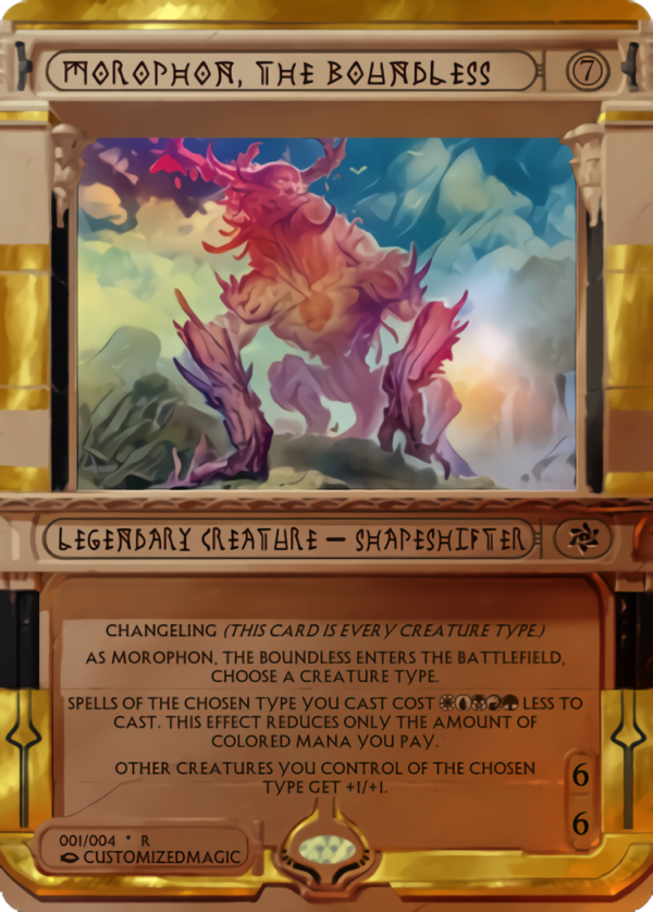 Morophon the Boundless - Magic the Gathering Proxy Cards