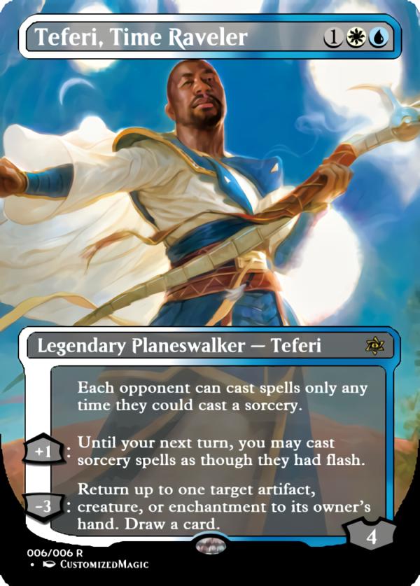 Teferi Time Raveler.1 - Magic the Gathering Proxy Cards