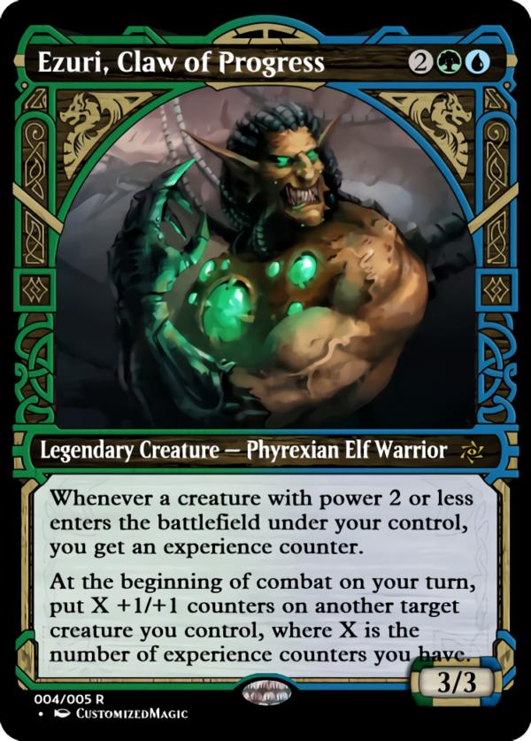 Ezuri Claw of Progress.3 - Magic the Gathering Proxy Cards