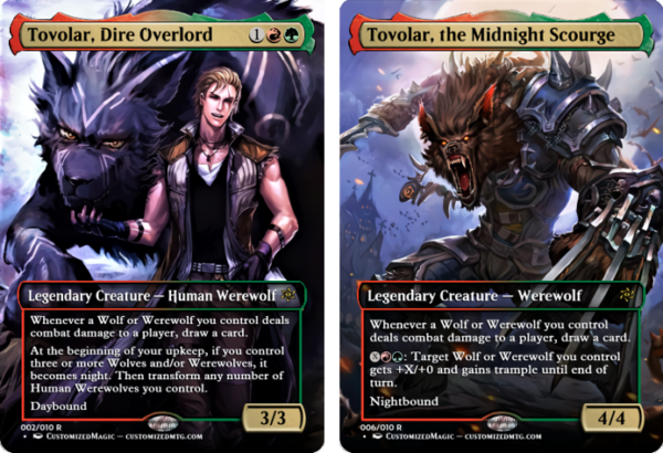 Tovolar Dire Overlord and Tovolar Dire Overlord 3 - Magic the Gathering Proxy Cards