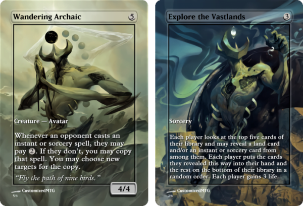 Wandering Archaic and Explore the Vastlands.2 - Magic the Gathering Proxy Cards